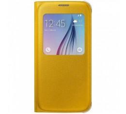 Samsung S6 Keltainen S-view Suojakansi