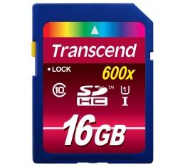 Transcend 16GB UHS-1 Class 10 600x SDHC