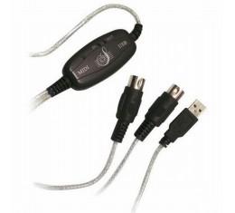 USB - MIDI kaapeli 2 metriä