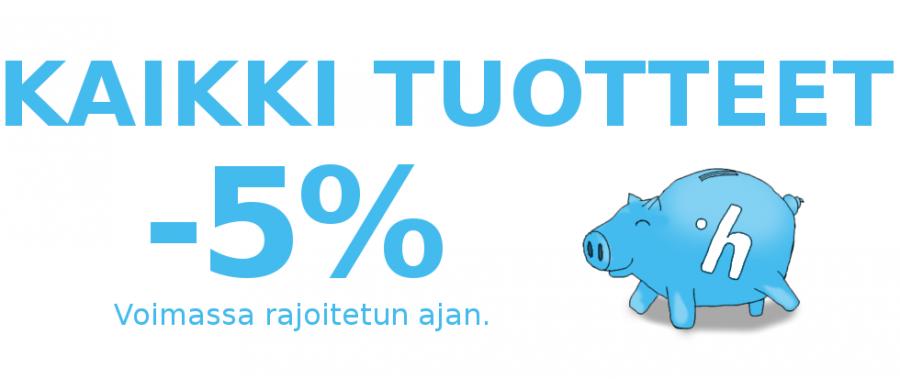 Kaikki Tuotteet -5%