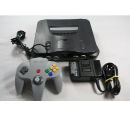 Nintendo 64 Paketti: Konsoli + Ohjain + Virtalähde + Scart-kaapeli