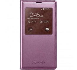 Samsung Galaxy S5 S-View Shimmery Pink Alkuperäinen