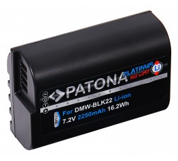 Patona Platinum Panasonic DMW-BLK22 Akku 2250mAh