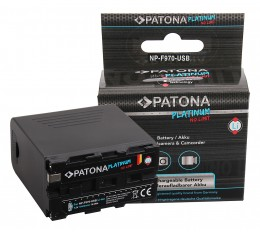 Patona NP-F950 NP-F970 Platinum Akku 10500mAh USB In / Out