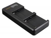 Patona NP-F550 F750 F970 F990 Dual USB-C Laturi LCD-Näytöllä