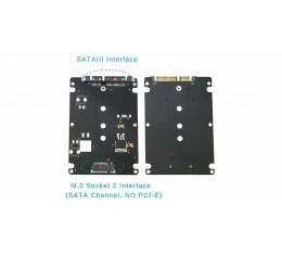 "M.2 SSD NGFF (B+M) - 2.5"" SATA III SSD Adapter"