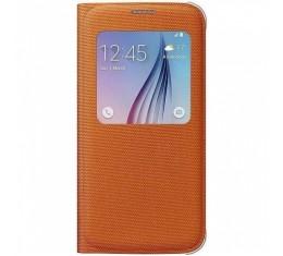Samsung S6 Oranssi S-view Suojakansi
