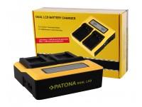 Patona Älykäs Dual Akkulaturi F550 F750 F970 F970 LCD-Näytöllä