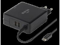 DELTACO USB-C PD Laturi 85W + 2 USB-A