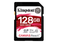 Kingston Canvas React 128GB SDXC U3 V30
