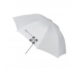 Quadralite Sateenvarjo Läpiampuva Valkoinen 120cm