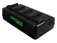 Patona Premium 4ch akkulaturi NP-F550 / F750 / F970