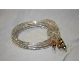 Alfatec RCA-Kaapeli LED:eillä 3 metriä