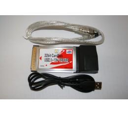 USB 2.0 & Firewire Combo PCMCIA Cardsbus Kortti