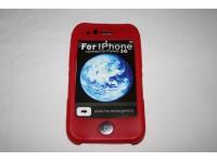 iPhone 3G 3Gs Punainen Silikonisuoja