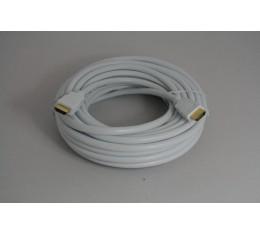 HDMI 1.4 Valkoinen Kaapeli HighSpeed Ethernet UltraHD 4Kx2K 10m